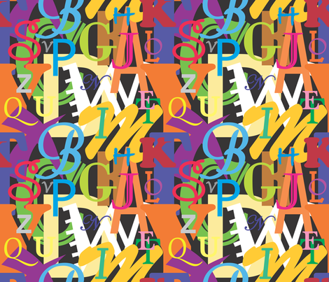 Alphabet fabric by illustrative_images on Spoonflower - custom fabric