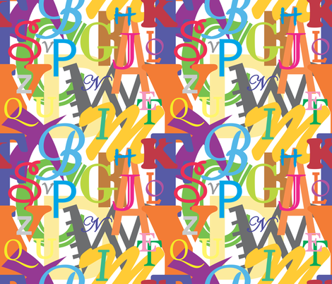 Alphabet_2 fabric by illustrative_images on Spoonflower - custom fabric