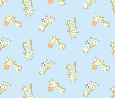 giraffe fabric by veronicaward on Spoonflower - custom fabric