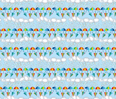 pluie_rayée fabric by nadja_petremand on Spoonflower - custom fabric