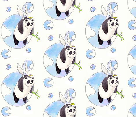 panda_angel2 fabric by alivedesigns_ on Spoonflower - custom fabric