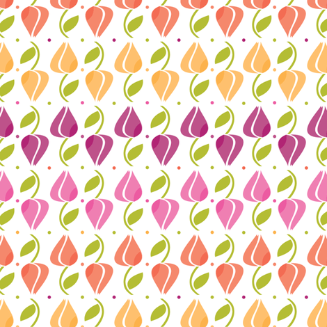 Ola Tulips fabric by luana_life on Spoonflower - custom fabric