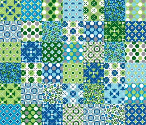 Oh Boy! Cheater Patchwork fabric by melaniesullivan on Spoonflower - custom fabric
