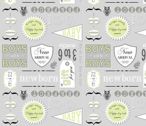 fabric_babyboy_limegray2 fabric by elizabethjane on Spoonflower - custom fabric
