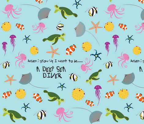 Deep Sea Diver fabric by annagalvin on Spoonflower - custom fabric