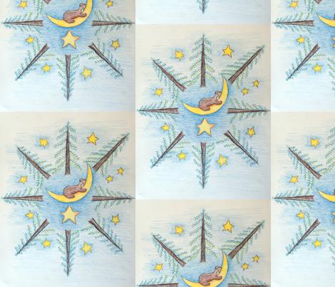 Sleeping Bear fabric by vmkorf on Spoonflower - custom fabric