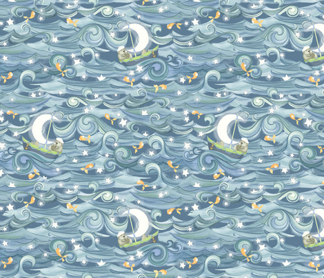 Sea of Stars fabric by nicoletamarin on Spoonflower - custom fabric