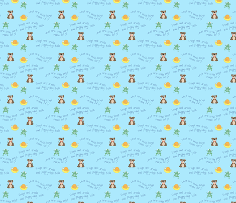 frogs and snails and puppy dog tails fabric by jlenore on Spoonflower - custom fabric