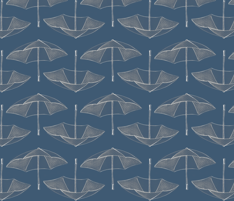 A Day at the Beach (Umbrella Storm) fabric by nightgarden on Spoonflower - custom fabric