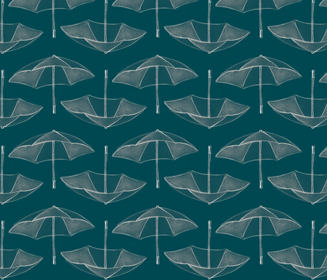 Umbrella_Storm__teal_ fabric by nightgarden on Spoonflower - custom fabric