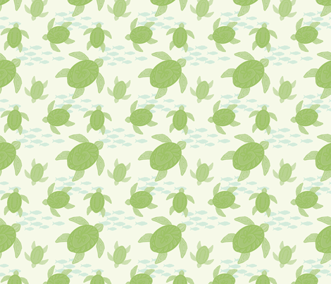 Sea Turtles fabric by cilla on Spoonflower - custom fabric