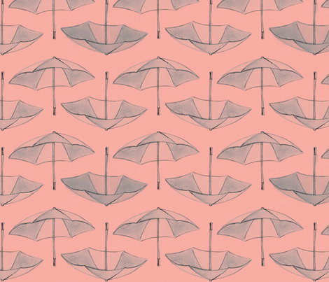 Umbrella_Storm__honeysuckle_ fabric by nightgarden on Spoonflower - custom fabric