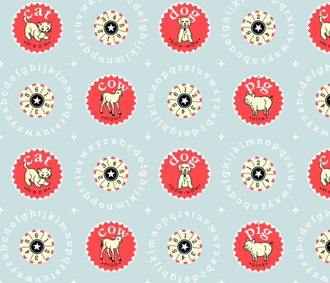 Animals_and_Alphabets fabric by JudiMarie on Spoonflower - custom fabric