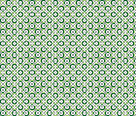 Oh Boy! XOXO Green fabric by melaniesullivan on Spoonflower - custom fabric