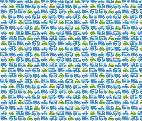 Little Green Car fabric by punkin_patterns on Spoonflower - custom fabric