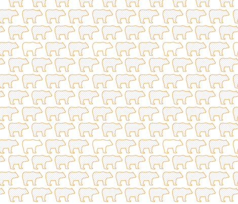 bears-flat-ed fabric by robiniahill on Spoonflower - custom fabric
