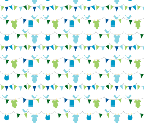 Oh Boy! Bunting fabric by melaniesullivan on Spoonflower - custom fabric
