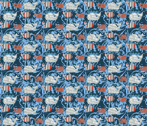 Whale fabric by sam_made on Spoonflower - custom fabric