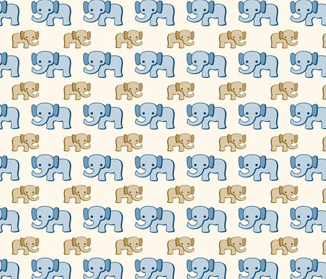 Baby Elephants fabric by suzannahashley on Spoonflower - custom fabric