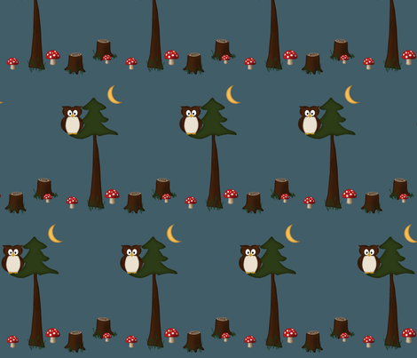 into_the_woods_fabric_copy fabric by dclaridge on Spoonflower - custom fabric