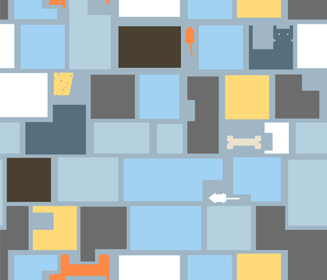 blocky_blues fabric by sewinga on Spoonflower - custom fabric