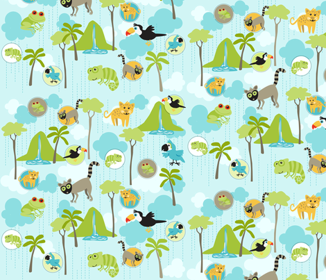 Rain Forest Babies fabric by bzbdesigner on Spoonflower - custom fabric