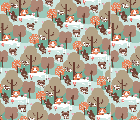 Babyforest fabric by terelo on Spoonflower - custom fabric