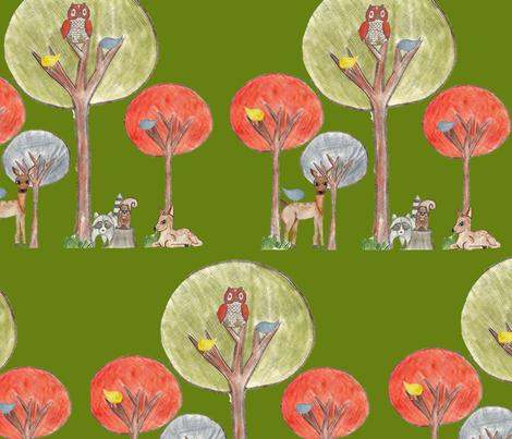 Baby Woodland fabric by graydensmama on Spoonflower - custom fabric