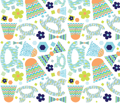 cloudburst crib fabric by jenniferaulwes on Spoonflower - custom fabric