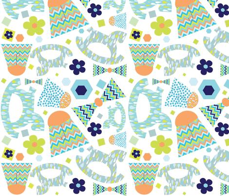 cloudburst crib fabric by jenniferaulwes on Spoonflower - custom fabric