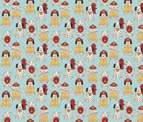 Dalmatian Firefighters fabric by sarahb on Spoonflower - custom fabric