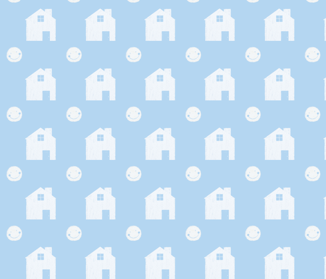 moony house i'll watch over you fabric by piscespieces on Spoonflower - custom fabric