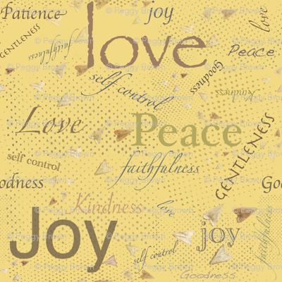Love Joy Peace -Yellow