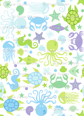 Sea Creatures Blues