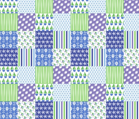 baby_boy_patchwork_2_inch fabric by lynn_b_clark on Spoonflower - custom fabric