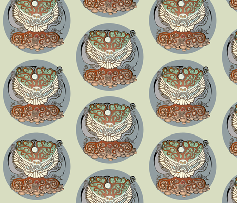 nightowl-babyboy fabric by leonardgeorge on Spoonflower - custom fabric