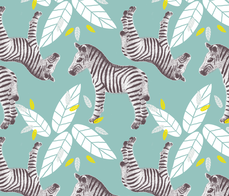 Zebra Safari fabric by michellesmith on Spoonflower - custom fabric