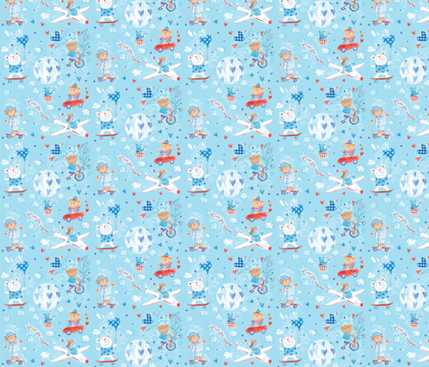 pattern_baby_boy_1 fabric by crovatto on Spoonflower - custom fabric