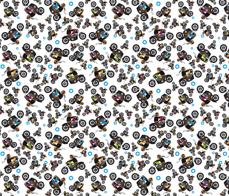 Bears on Harleys fabric by discworld on Spoonflower - custom fabric