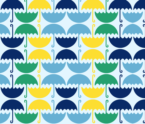 Umbrellas! fabric by smitchell on Spoonflower - custom fabric