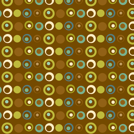 Deviated Dots - Brown fabric by inktreepress on Spoonflower - custom fabric