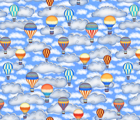 Balloon Race fabric by kezia on Spoonflower - custom fabric