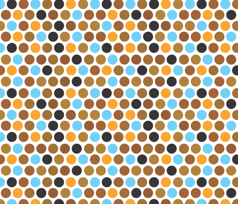 Dots fabric by ankepanke on Spoonflower - custom fabric