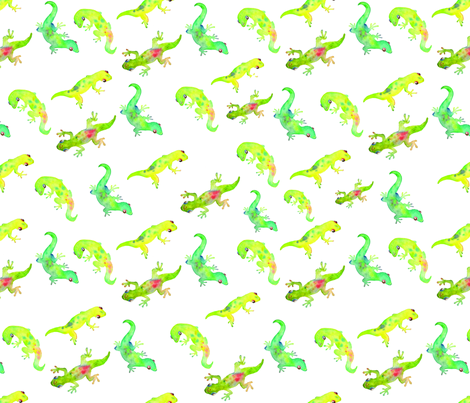 Baby Geckoes fabric by mihomichelle on Spoonflower - custom fabric