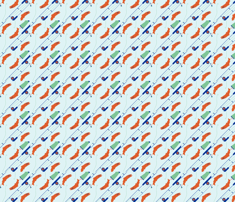 fishpattern-ed fabric by egare on Spoonflower - custom fabric