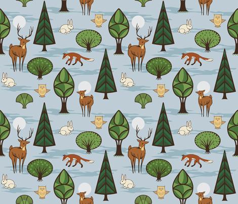 Woodland Creatures fabric by crowcreative on Spoonflower - custom fabric