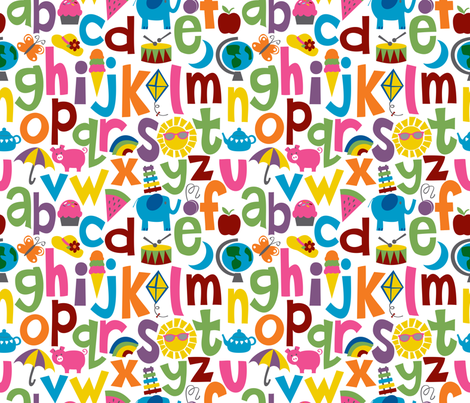 Alphabetical fabric by melaniesullivan on Spoonflower - custom fabric