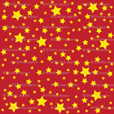 Happy Stars (red)