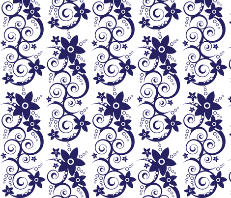 Swirly Flowers fabric by robyriker on Spoonflower - custom fabric