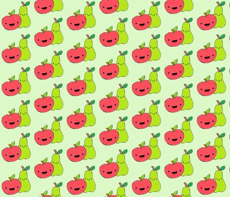 FriendlyFruit fabric by pinkliz on Spoonflower - custom fabric
